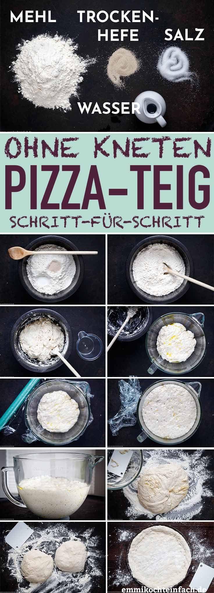 Einfacher Pizzateig ohne Kneten - Amerikanischer Teig #pizzateig