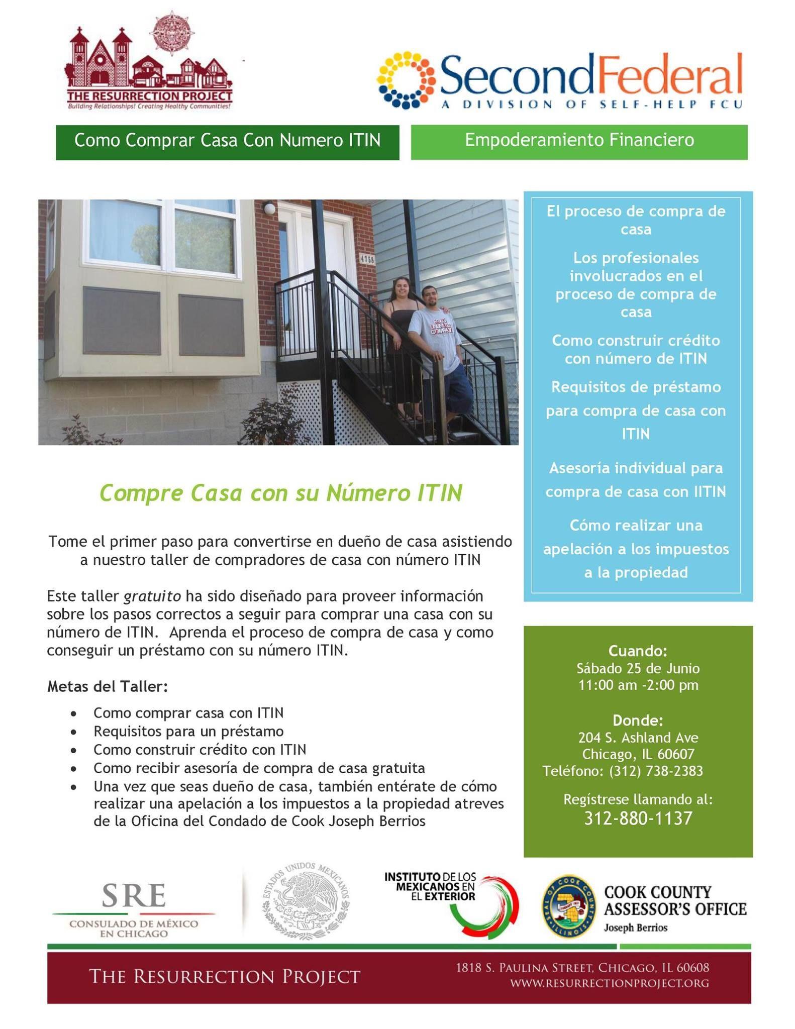 9df7ab9b27a75 6 25 - Quiere Comprar Casa Con Numero ITIN  Nuevo taller para comprar casa.