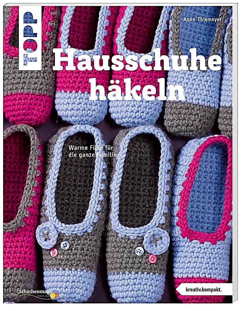 Hausschuhe häkeln | Pinterest | Hausschuhe, Häkeln und Bücher online ...