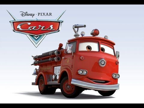 Red Is A Fire Truck From The Movie Cars He Is Very Shy And