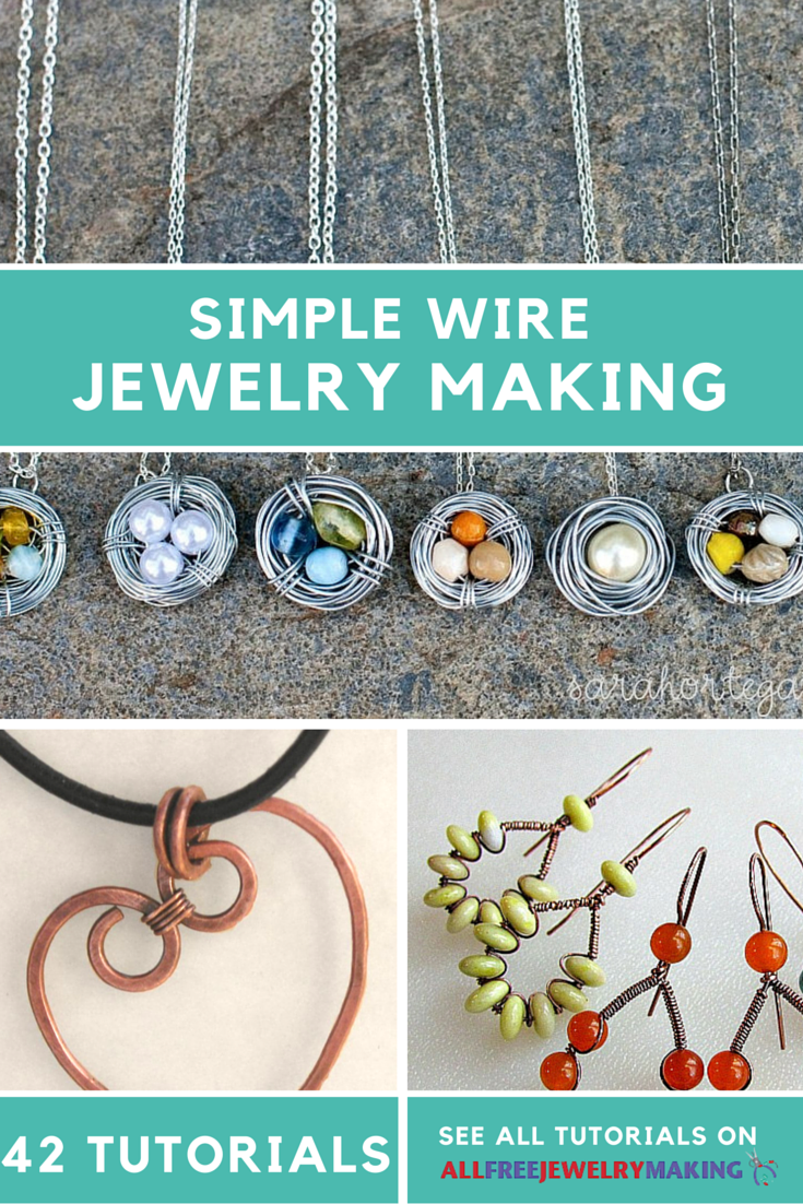 54 Simple Wire Jewelry Making Tutorials | Wire | Pinterest ...