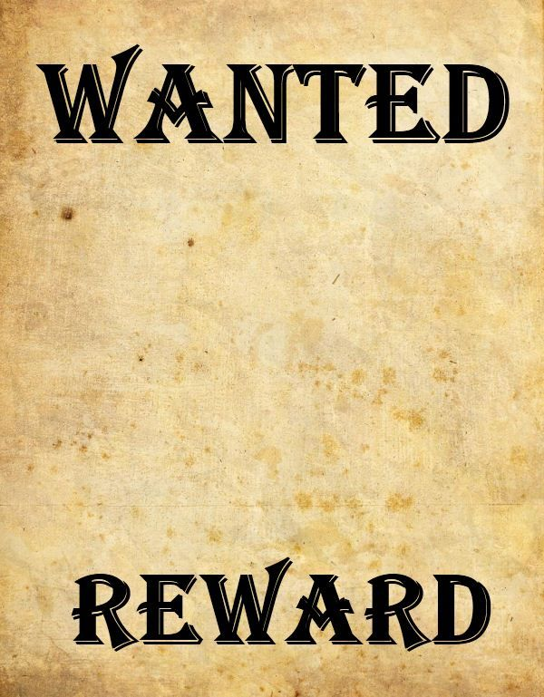 Doc450633 Wanted Poster Layout 19 FREE Wanted Poster – Examples of Wanted Posters