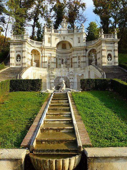 Villa Della Regina fountain. Torino Italy Where my dad