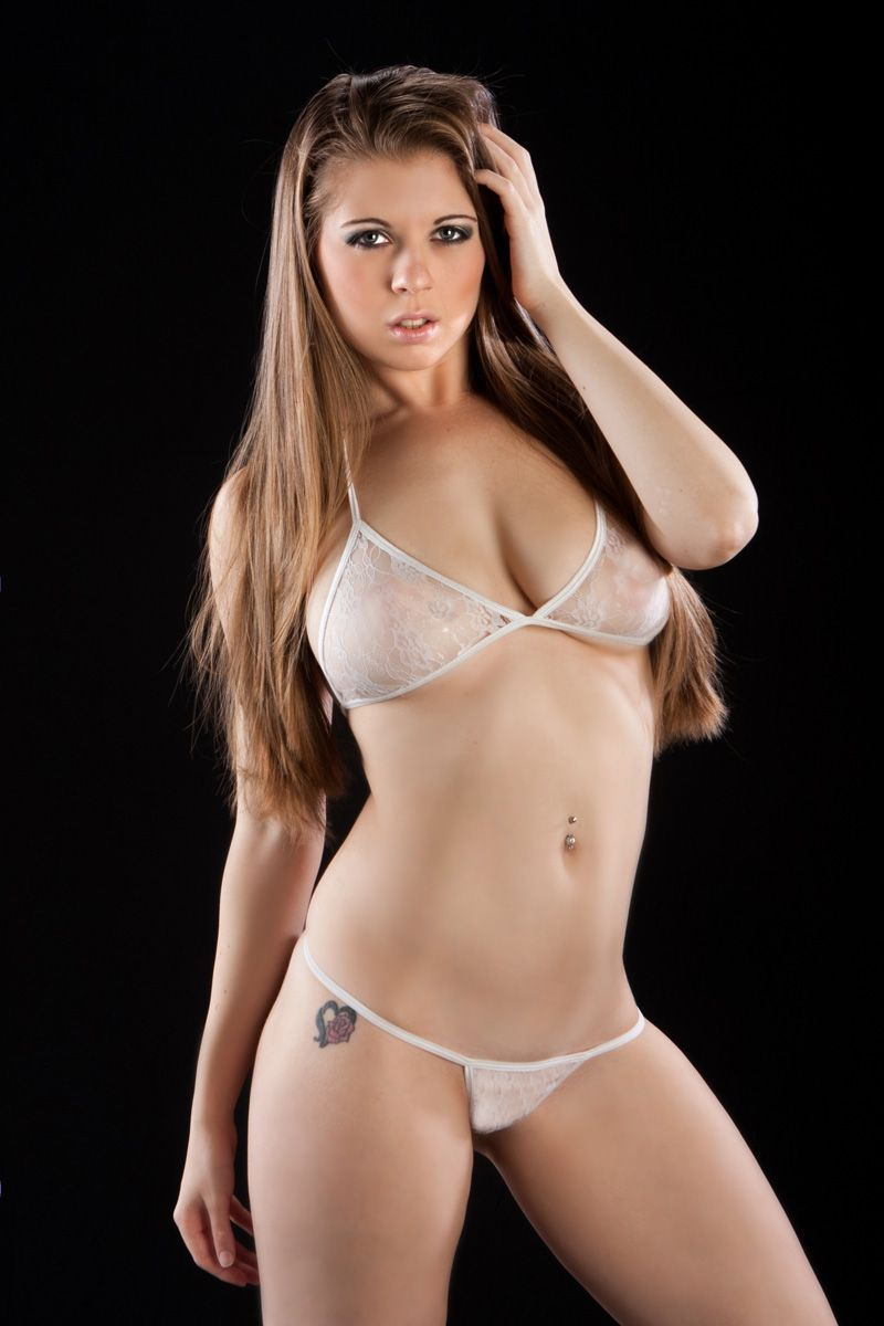 Lace lingerie two piece white_1380