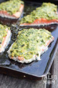 AIP Basil-Avocado Baked Salmon ~ The Paleo Mom #Recipes