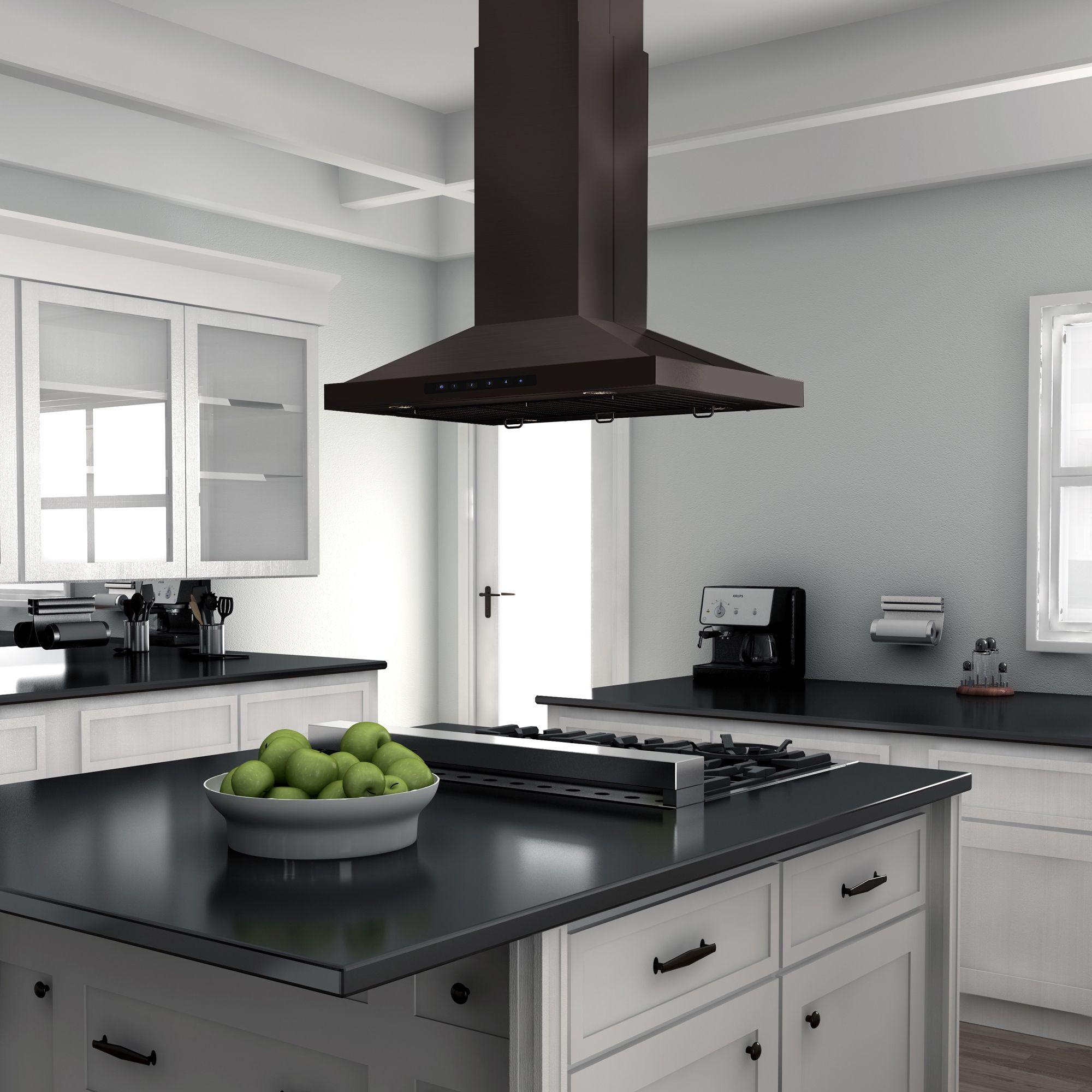 Black Stainless Island Bsgl2in Zline Kitchen Island Range Hood Kitchen Installation Range Hood