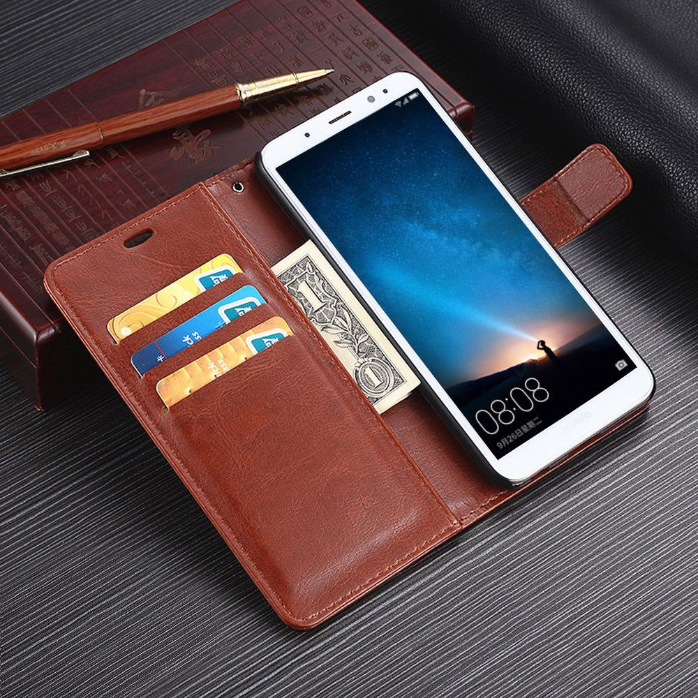 brand new 05c2c fe88b $1.19 - For Huawei Mate 10 Lite Pro Durable Magnetic Leather Wallet ...