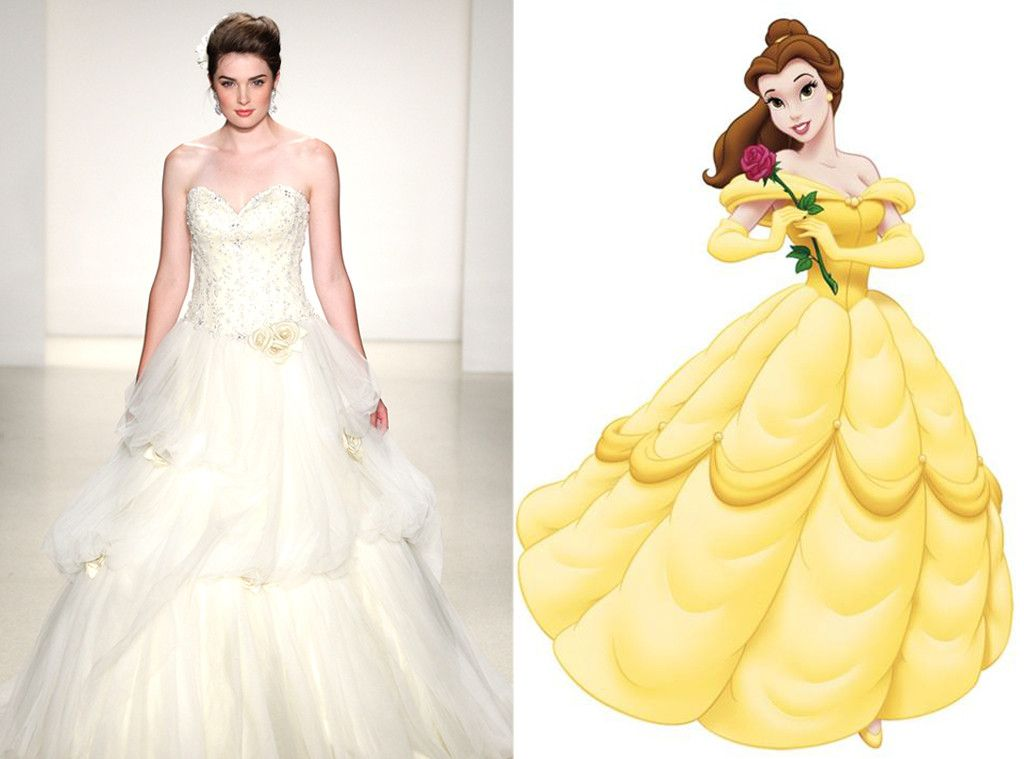 Belle from Alfred Angelo\'s Disney Princess Wedding Gowns | Yellow ...