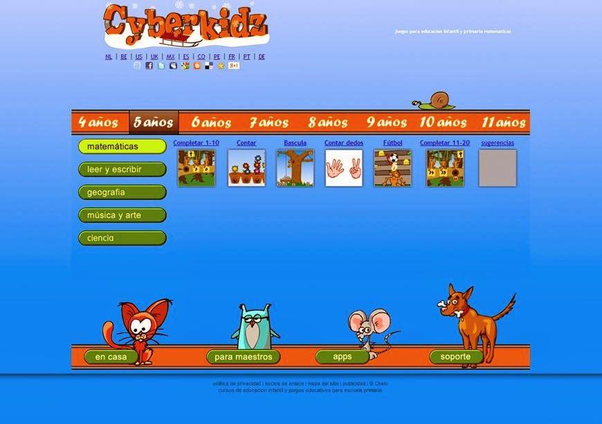 Cyberkidz Es Un Gran Portal De Juegos Educativos Para Ninos Y Ninas