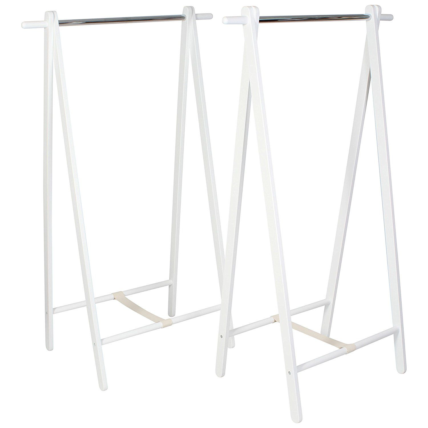 Heavy Duty Wooden Clothes Rack Two Pack Small 60cm 2ft Wide 120cm