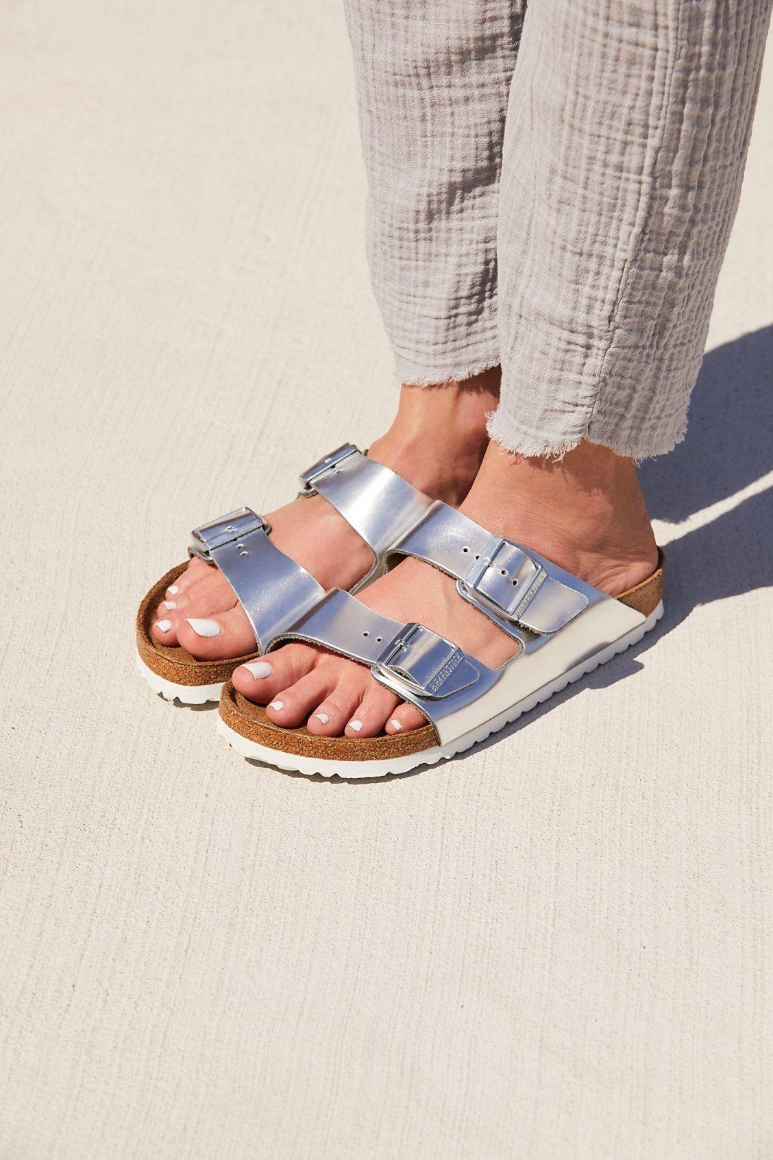 Arizona Metallic Birkenstock | Free People | Birkenstock sandals