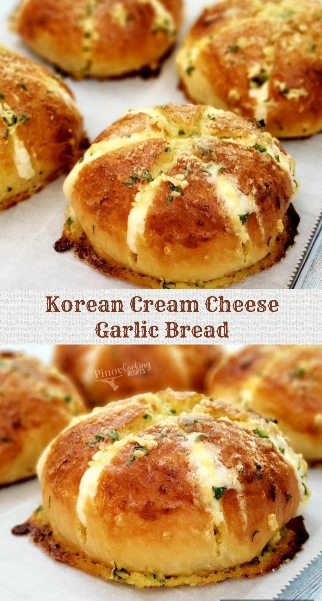 I Made Cream Cheese Garlic Bread Korean Street Food In 2020 Garlic Cheese Bread Food Homemade Bread