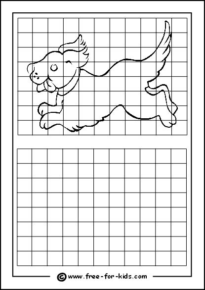 Drawing Smooth Lines Quiz : Practice drawing grid with puppy art printables how