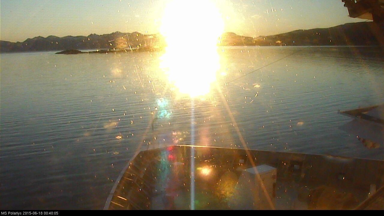 on Polarys, Hurtigruten 18/06 00h40 midnight sun norway