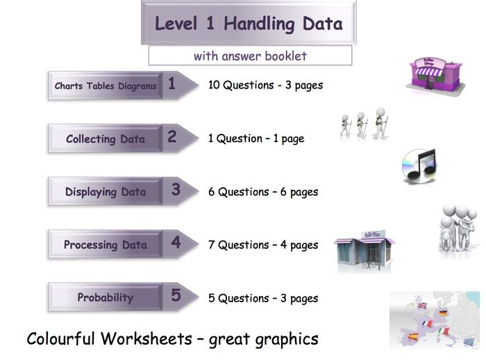 Handling Data Workbook Worksheet Booklet Functional Skills Level 1 With Answers Teaching Resources Worksheets Workbook Math Resources