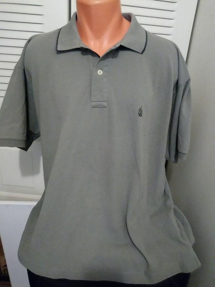 Nautica Men's Short Sleeve Polo Shirt Color Olive Green Size Large