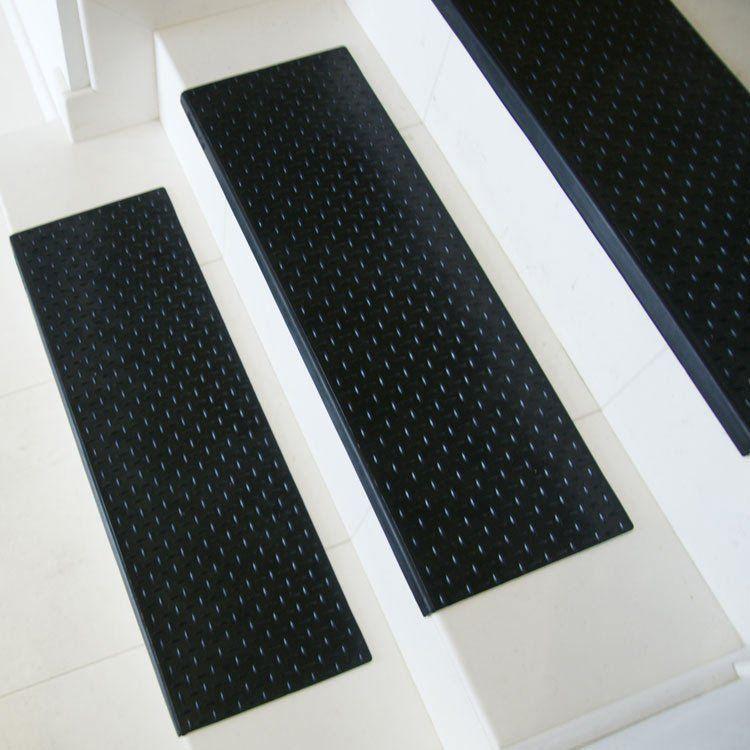 Diamond Plate Step Non Slip Rubber Stair Tread Stair Mats Stair Treads Diamond Plate