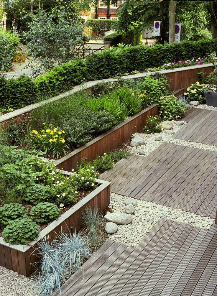 Durchsuchen Sie Bilder moderner Garten-Designs:. Finde die besten Fotos für Ideen & Inspi #modernegärten