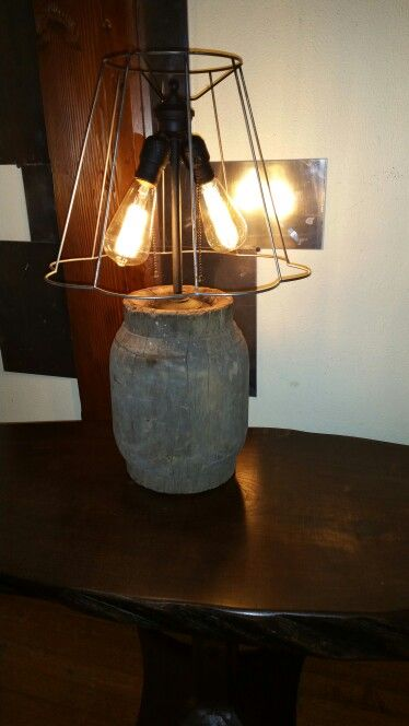 Table lamp repurposed antique wooden wheel hub never mortised for table lamp repurposed antique wooden wheel hub never mortised for spokes vintage salvaged wire keyboard keysfo Images