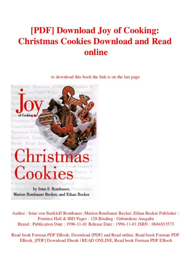 Pdf Download Joy Of Cooking Christmas Cookies Download And