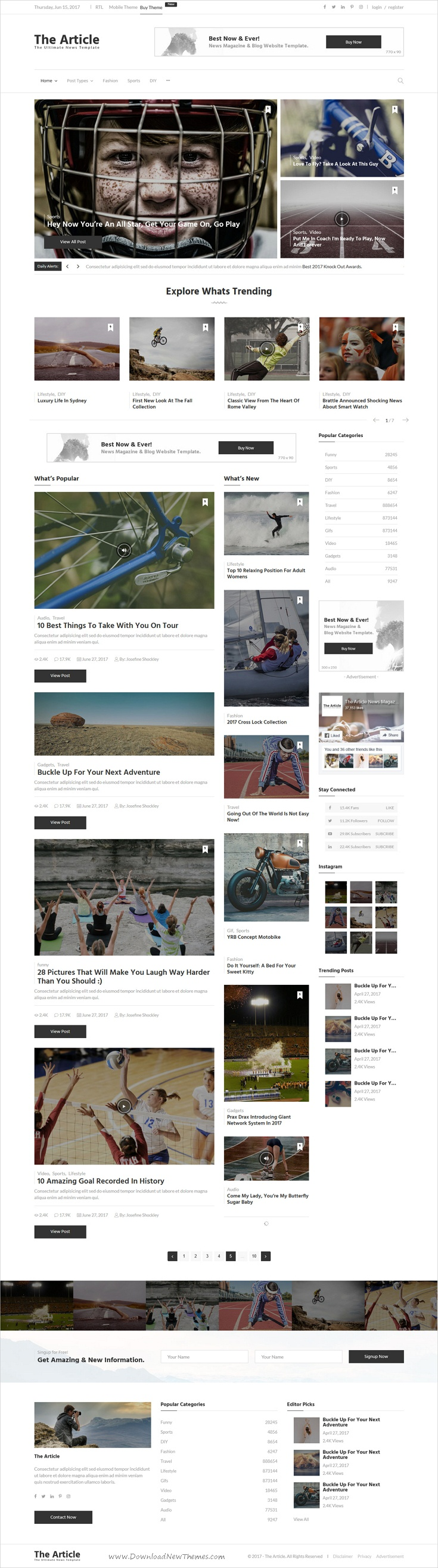 News Article and Blog - Modern Template for Blogs, Magazines and ...