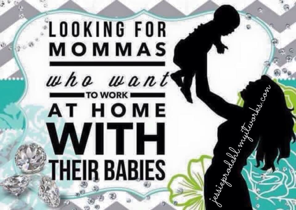 Stay home with the babies but still make the money to support them! Message me for details! Don't pass up this great opportunity !