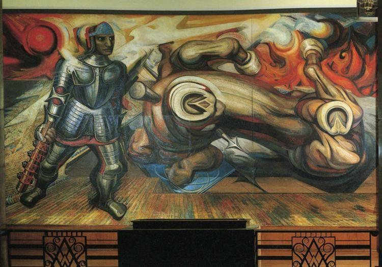 The Resurrection Of Cuauhtemoc 1950 David Alfaro Siqueiros By