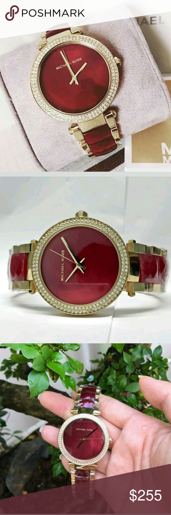 3c62684e5dae Brand new Michael Kors Choronograph ladies watch New Michael Kors Parker  Red Choronograph and Gold Women s Watch FIRM PRICE  255.00 . AUTHENTIC  WATCH .