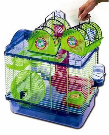 Penn Plax Here And There Hamster Cage American Pet Cages Cool Hamster Cages Dwarf Hamster Cages Hamster Diy