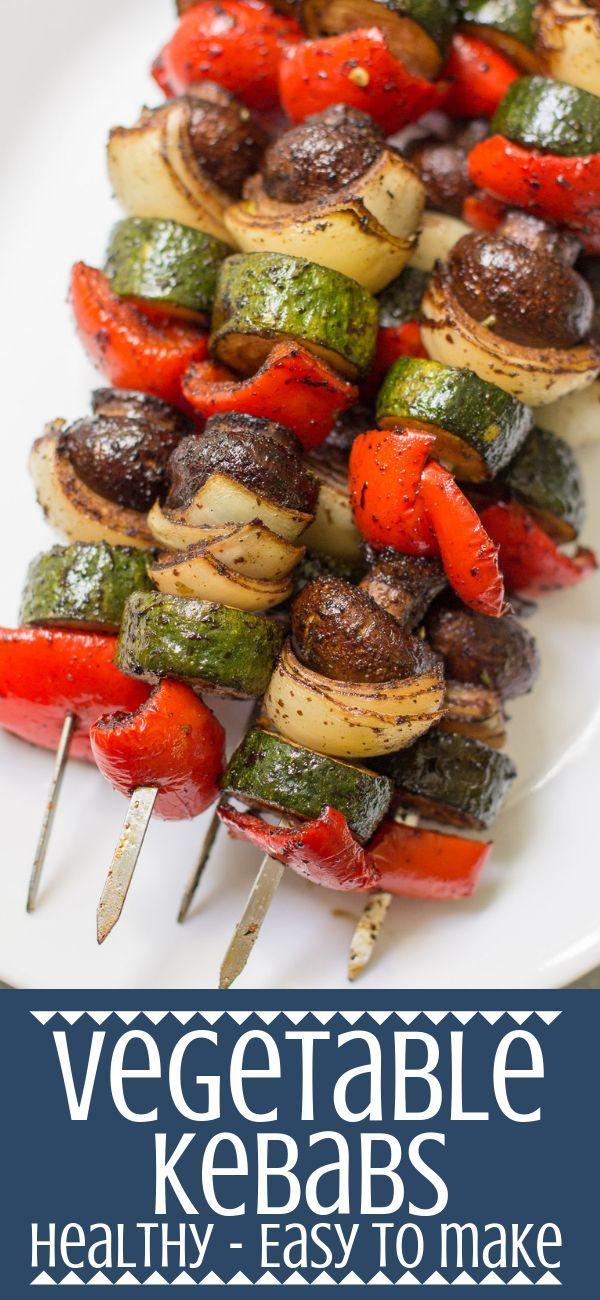 Vegetable Kebabs - The Clean Eating Couple