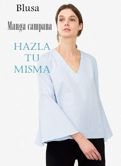 DIY Blusa manga campana