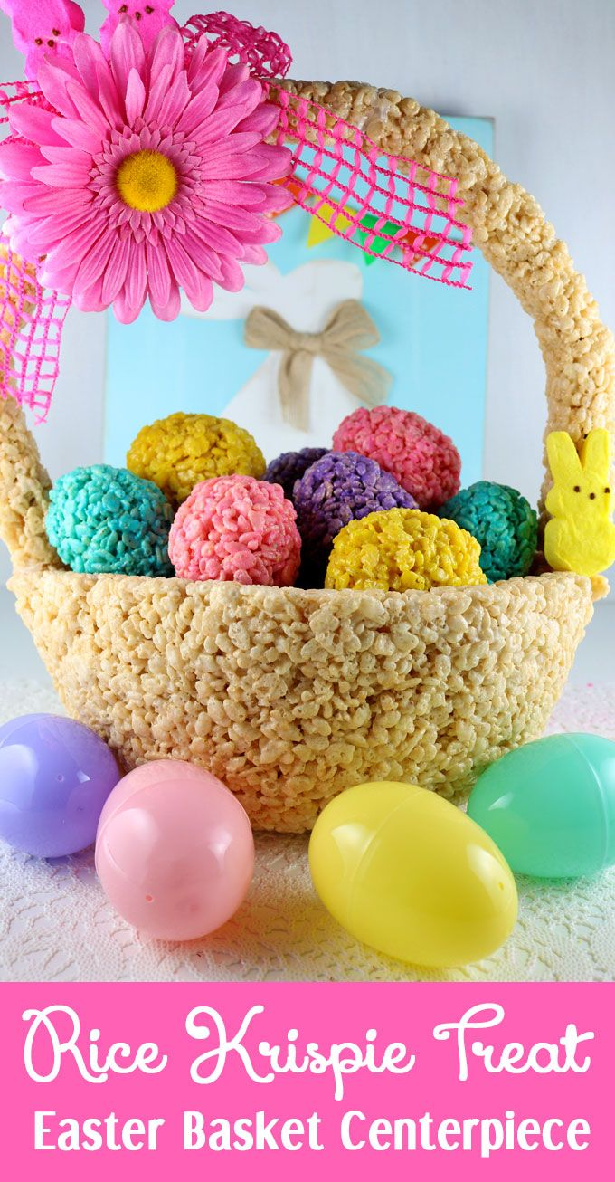 Rice krispies easter basket centerpiece use pic as inspiration rice krispies easter basket centerpiece use pic as inspiration because site is no longer there negle Images