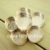 Elegante dekorative muster kristall stempel kristall, Runde, 6 stempelkissen, clear stamps set, stempel