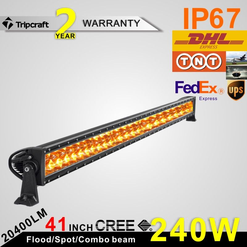 Free Shipping 240w 41 Inch Led Extraljusramp Led Work Light Bar Off Road Lights Driving Lamp Amber Led Light Bar Off Road Led Lights Led Work Light