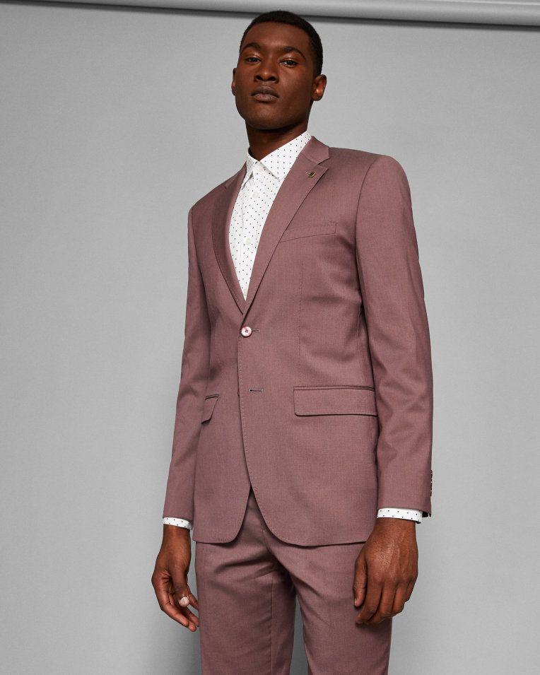 eeb3a3dff Debonair plain wool suit jacket - Dusky Pink