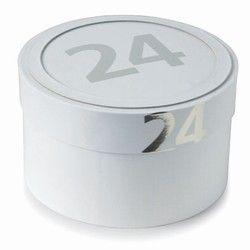 Gavekalender - hvid/sølv (24 æsker)
