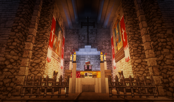 The Altar Of The Church Castle Minecraft Projects Minecraft