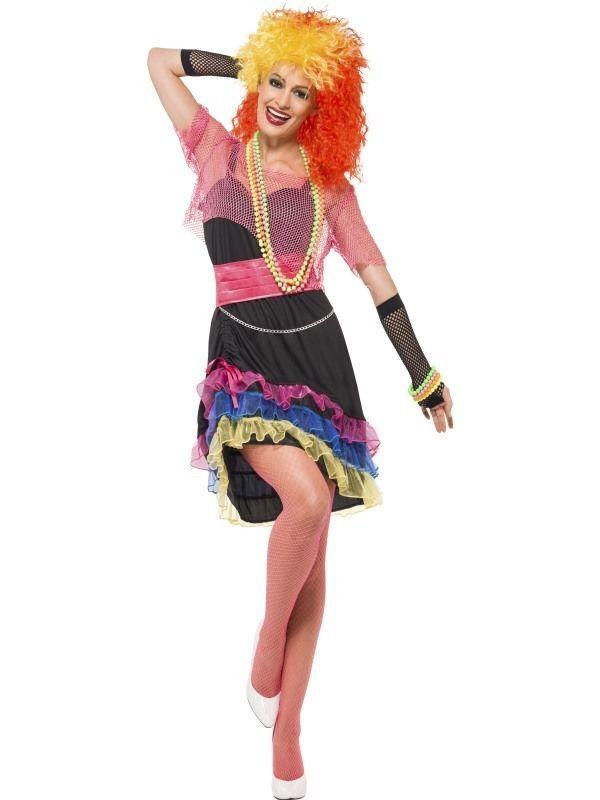 80 S Fun Cyndi Lauper Womens Smiffys Fancy Dress Costume Uk 16 18