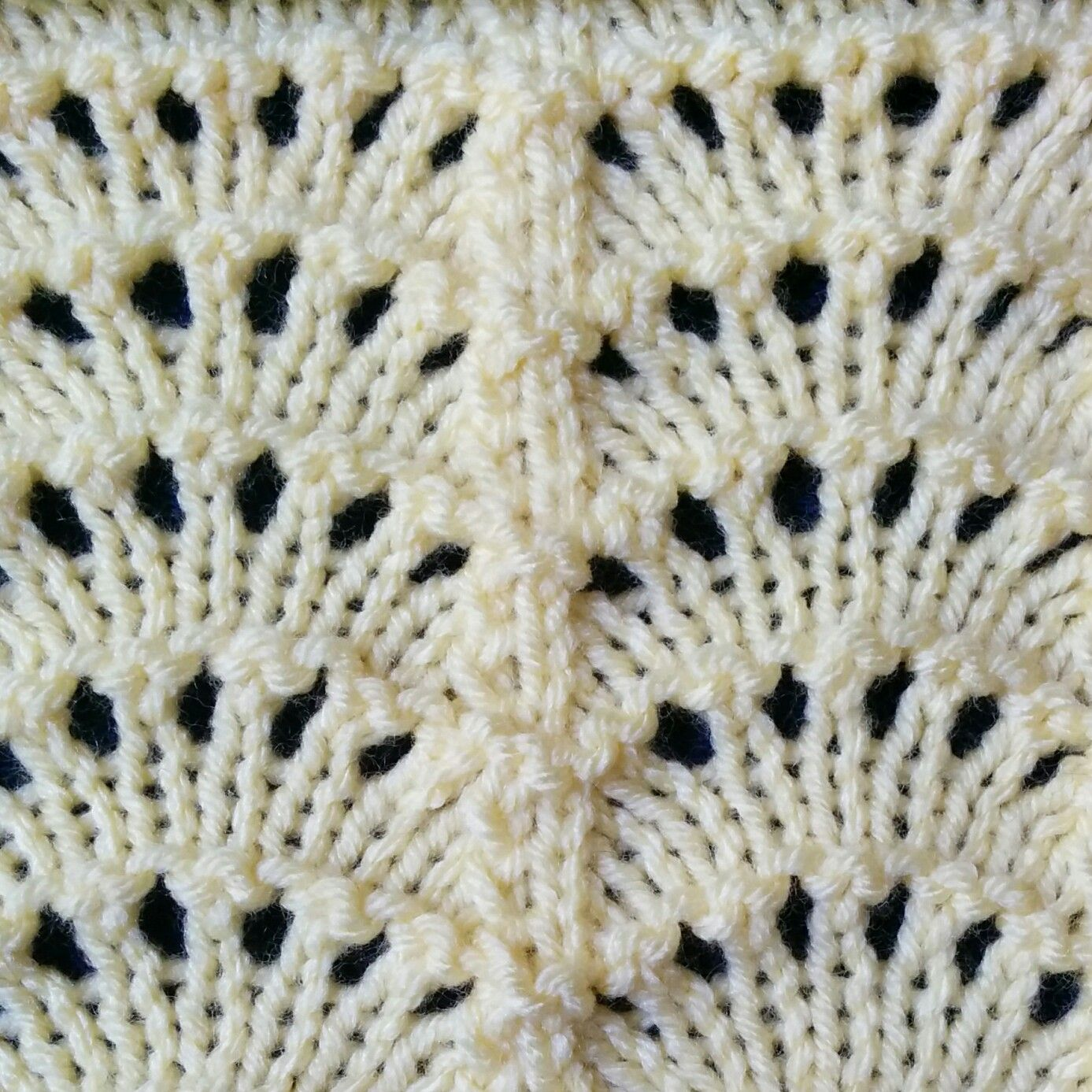 The Fan stitch is a lace stitch which resembles the Feather and Fan ...