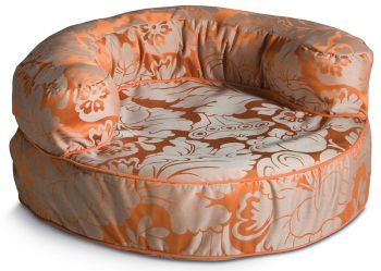 Click Image Above To Purchase: Crypton Melrose Persimmon Bolster Dog Bed Medium