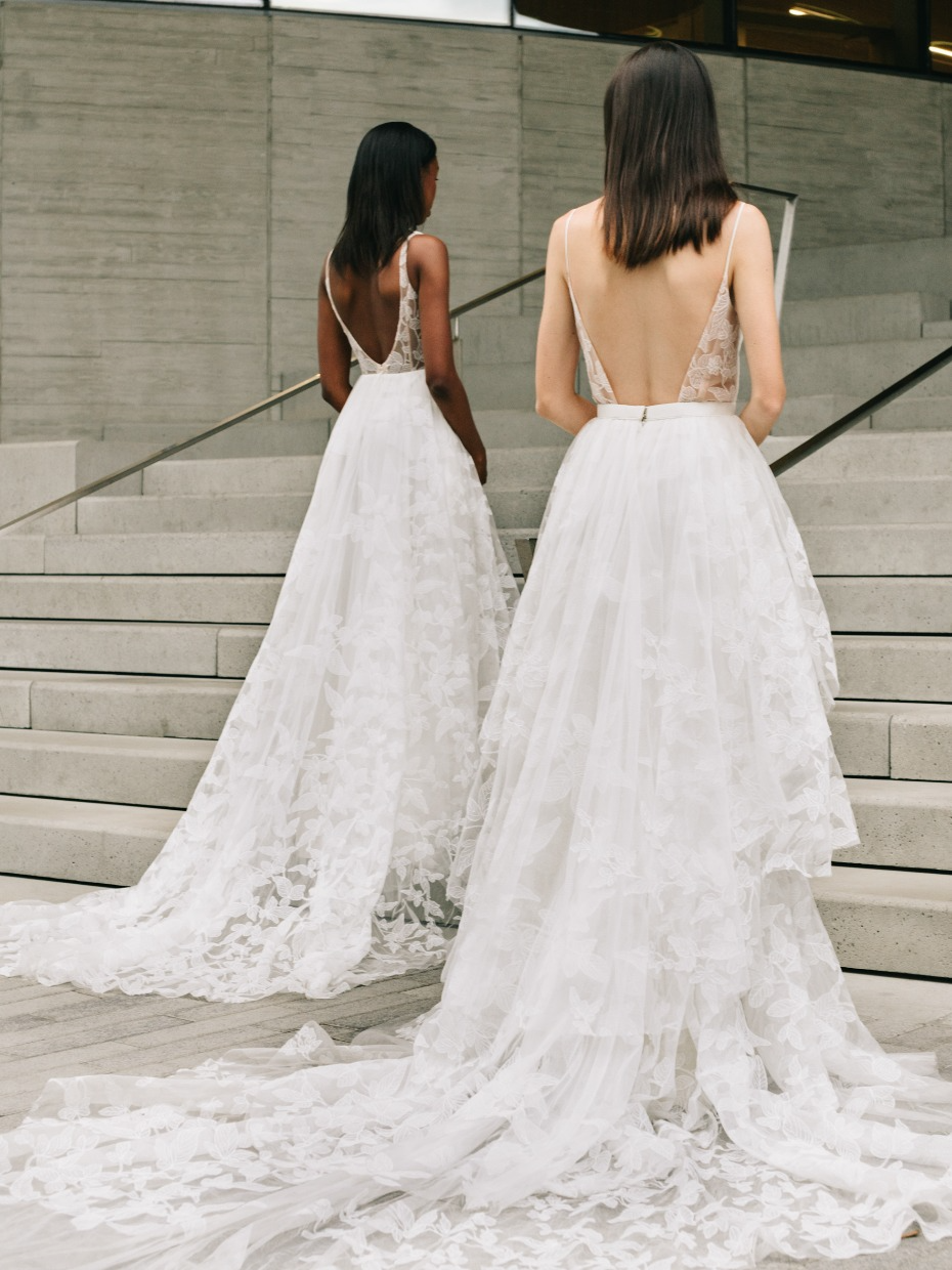 When We Say This Brand Honors And Celebrates Its Brides We Mean It Truvelle Bridal Wedding Gowns Mermaid Pink Wedding Dresses [ 1240 x 930 Pixel ]