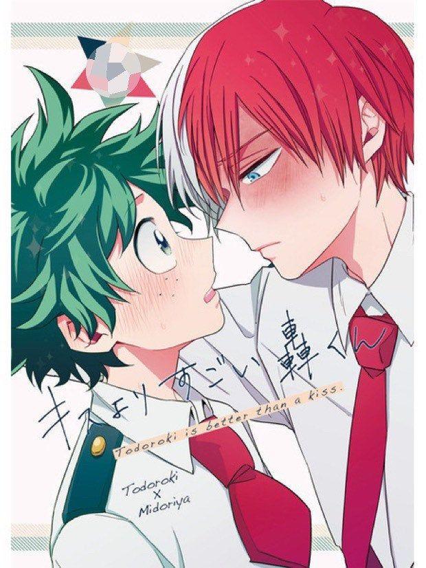 My Hero Academia Yaoi Doujinshi / Todoroki Shouto x Midoriya Izuku / Tododeku / mint pair Anime Manga bnha