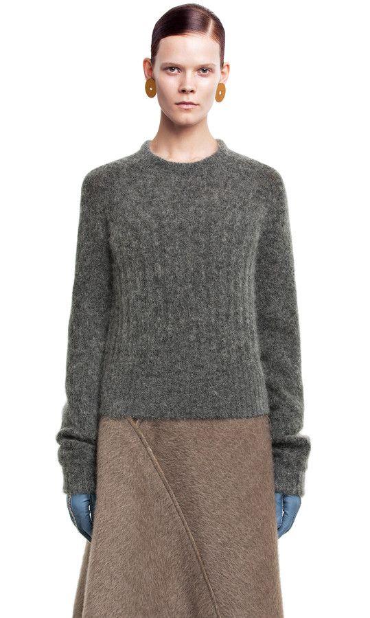 Dania mohair grey melange sweater #AcneStudios #knitwear