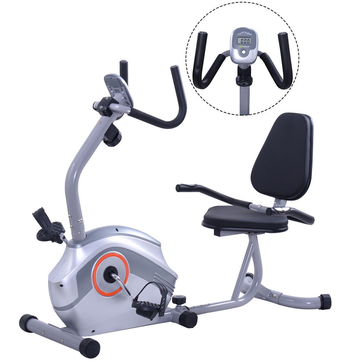 Recumbent Exercise Bike Stationary Bicycle Cardio Workout Fitness Home Gym New Recumbent Bike Workout Biking Workout Exercise Bike For Sale