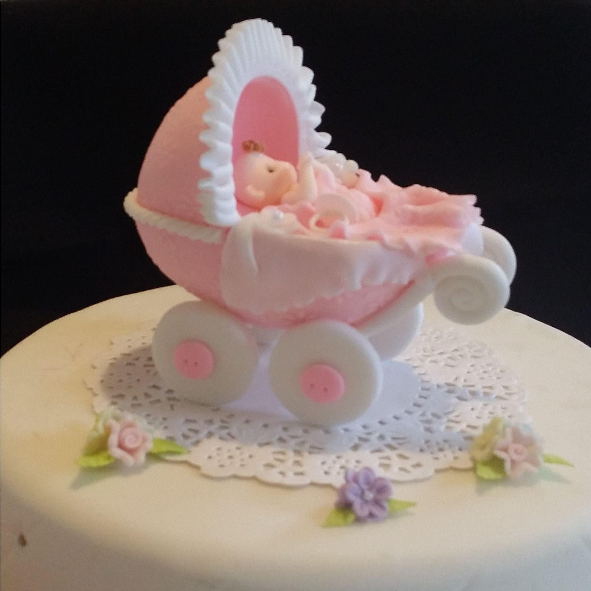 1 STORK PICKS TOPPER DIAPER CUPCAKES BABY SHOWER CAKES COLD PORCELAIN BOY//GIRL