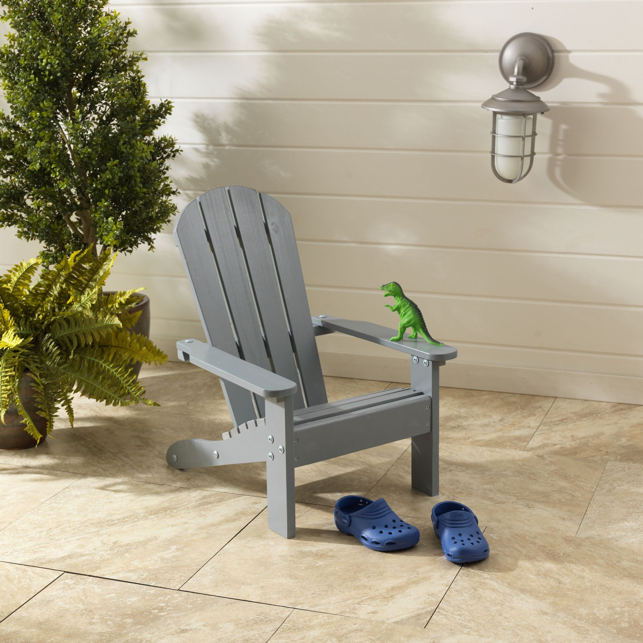 Adirondack Chair In Gray (With images) Adirondack chair