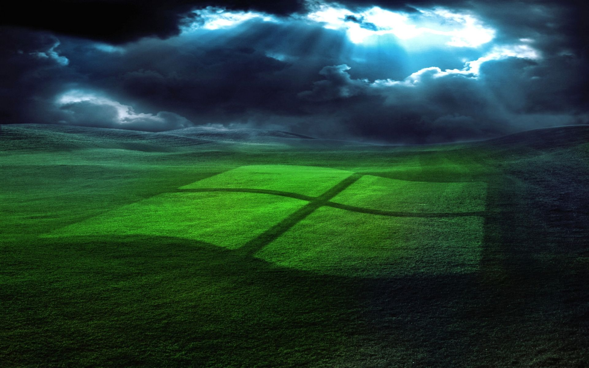 1920x1200 wallpaper windows, field, grass, operating system
