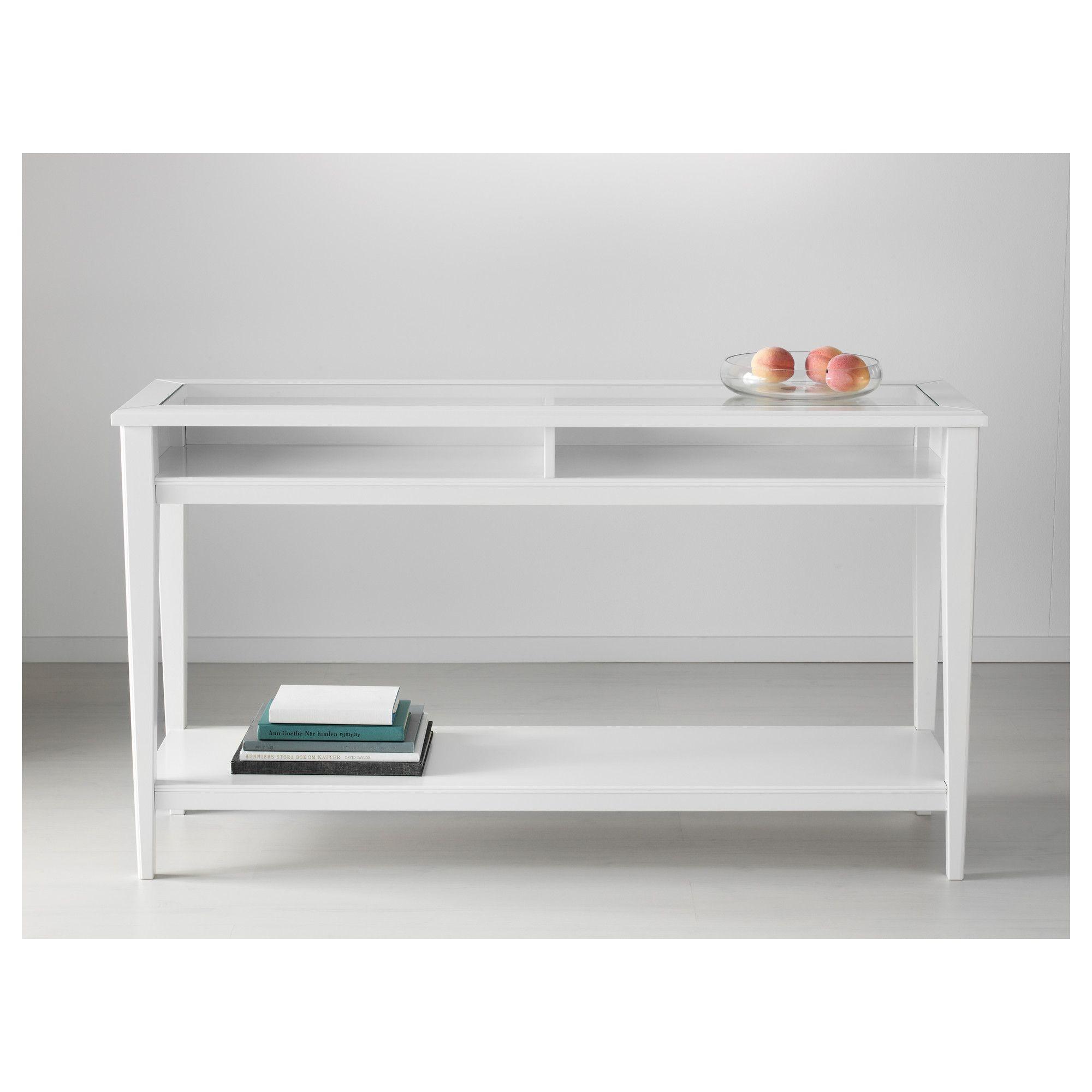 Liatorp Console Table White Glass 52 3 8x14 5 8 Ikea
