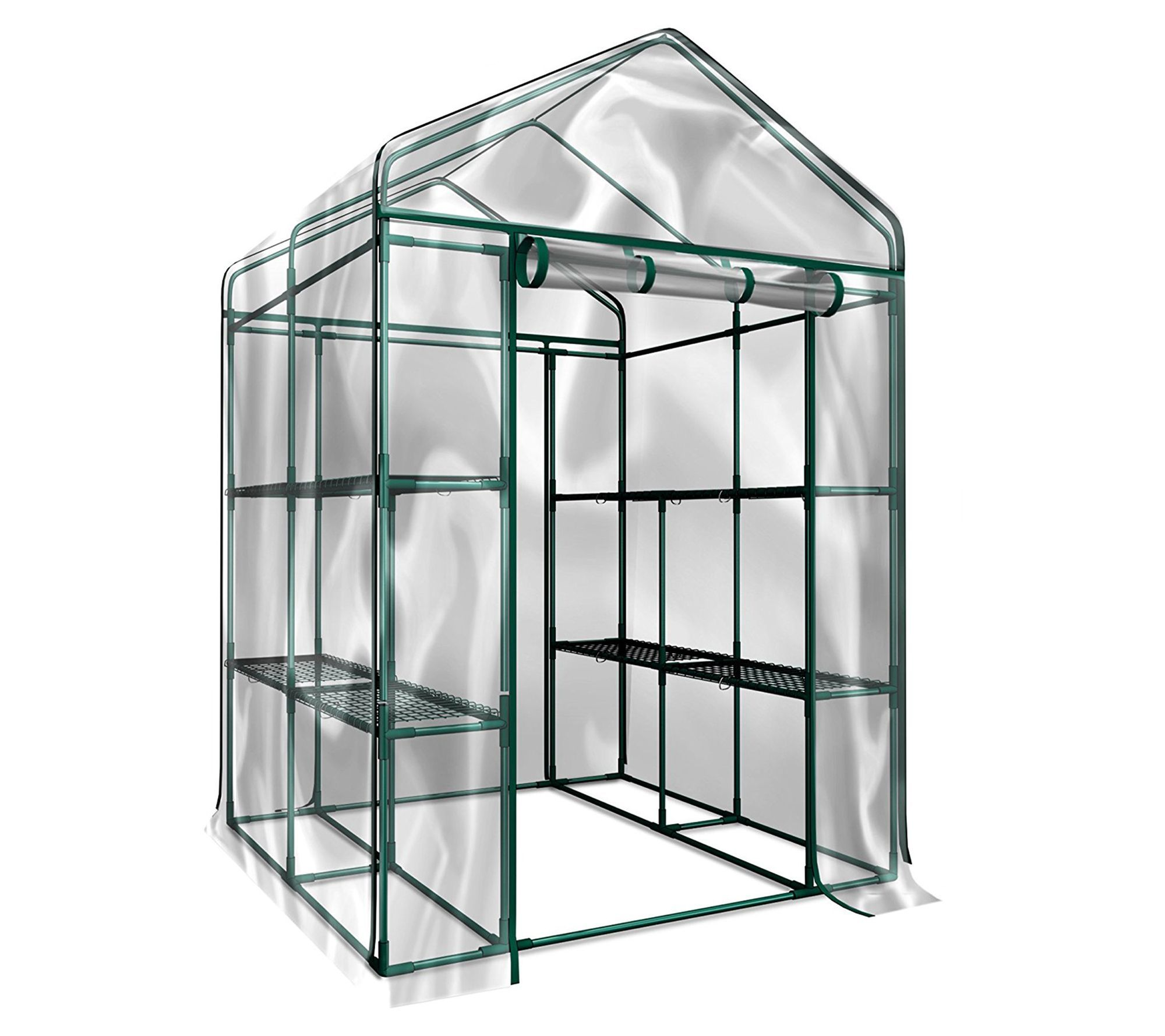 The Walk In Greenhouse By Home Complete Qvc Com In 2020 Walk In Greenhouse Diy Greenhouse Home Greenhouse