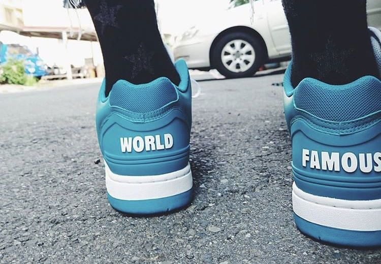Supreme x Nike SB Air Force 2 Low Jade Blue made of high-grade leather